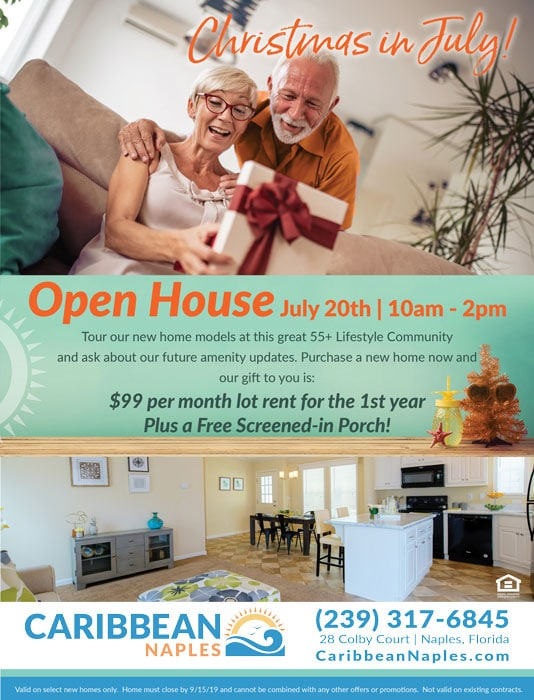 Christmas in July Open House July 20th 10am-2pm